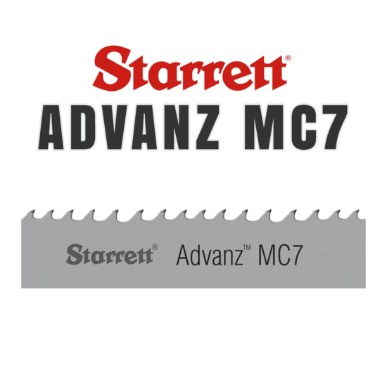 Starrett Advanz MC7 Band Saw Blade